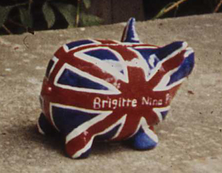 Brigitte Nina Pig - Union Jack Piggy Bank